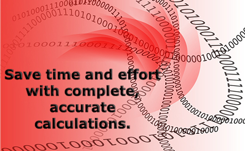 Accurate calculations are a hallmark of BLAZE SSI software.